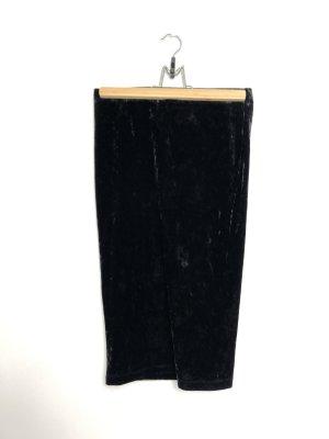 Bleistiftrock aus schwarzem Samt