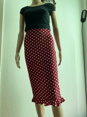 Sheinside Pencil Skirt carmine-white