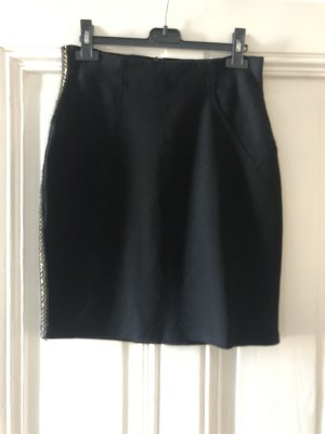 Prey of London Pencil Skirt black-gold-colored