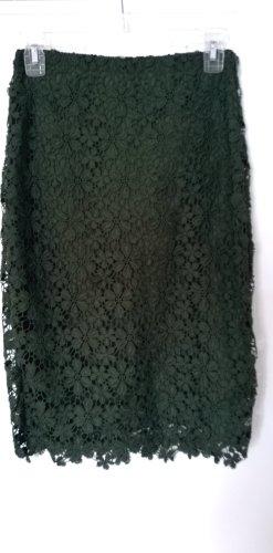 Bleistiftrock Hallhuber Donna  Blumen Spitze grün  XS UNGETRAGEN