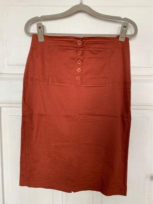 bpc bonprix collection Ołówkowa spódnica rudy