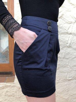 Amisu Falda de tubo azul oscuro Poliéster