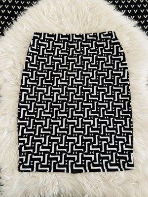 Bleistiftrock Muster schwarz|weiß -Chilli-
