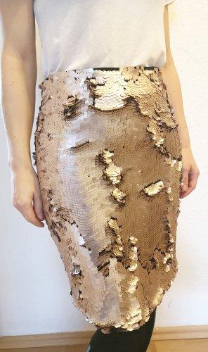 Bleistiftrock Pailletten rose von Zara Woman Studio new