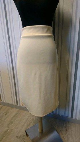 Belsira Ołówkowa spódnica kremowy Tkanina z mieszanych włókien