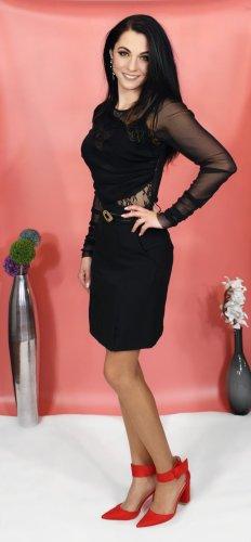 Bleistiftrock schwarz mit Gürtel, knielang, Damenrock, Pencil Skirts