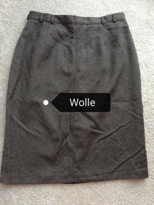 VINTAGE  70er Gonna di lana grigio-grigio scuro