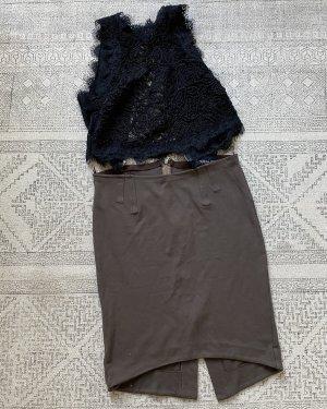 Patrizia Pepe Ołówkowa spódnica taupe-szaro-brązowy