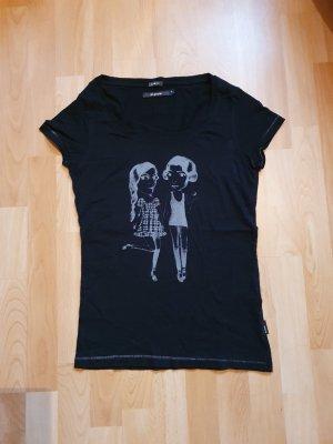 Blend She Shirt met print zwart-grijs