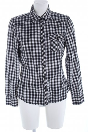 Blend Shirt Blouse white-black check pattern casual look