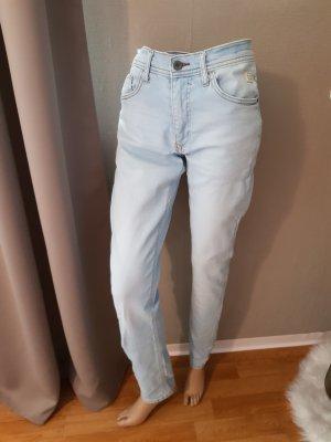 Blend High Waist Jeans light blue cotton