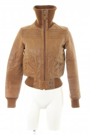 Blend Leather Jacket brown casual look