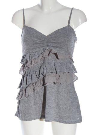 Blend Top a balze grigio chiaro puntinato stile casual