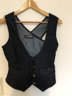 BlendShe Jeansowa kamizelka ciemnoniebieski