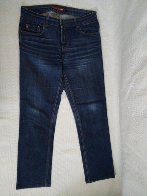 Blend She Jeans cigarette bleu pétrole coton