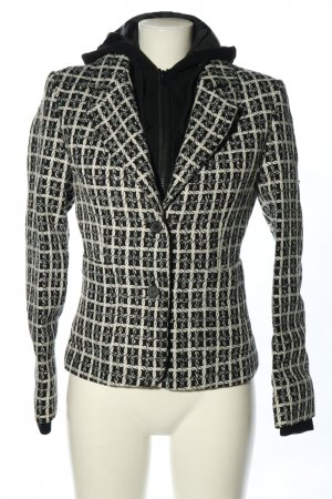 Blend She Giacca con cappuccio nero-bianco motivo grafico stile casual