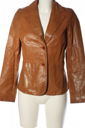 Blend She Leather Jacket brown casual look
