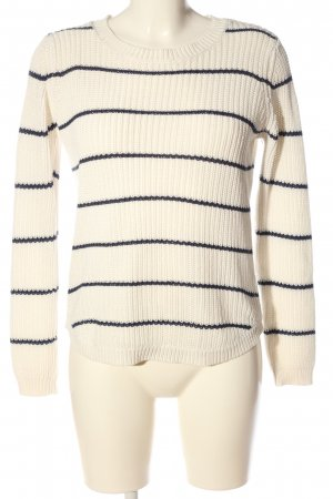 Blend She Crewneck Sweater white-blue allover print casual look