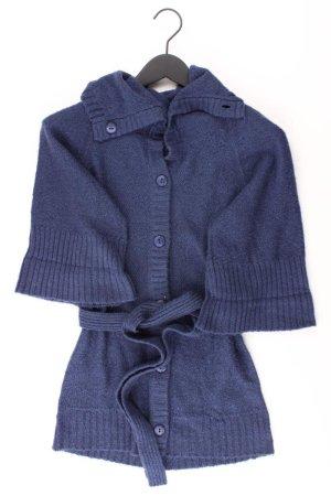 Blend Strickjacke Größe XS mit Gürtel 3/4 Ärmel blau aus Baumwolle