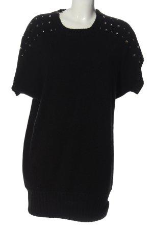 Blend Robe en maille tricotées noir style décontracté