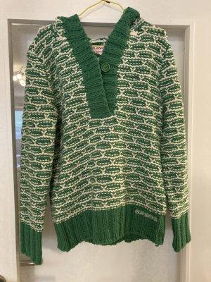 BlendShe Sweter z dzianiny zielony-biały