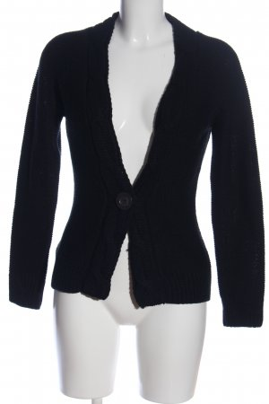 Blend Cardigan black cable stitch casual look