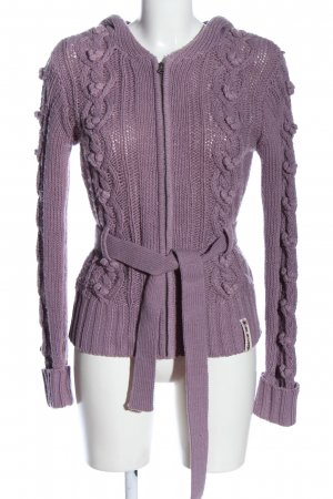 BlendShe Cardigan lilac cable stitch casual look