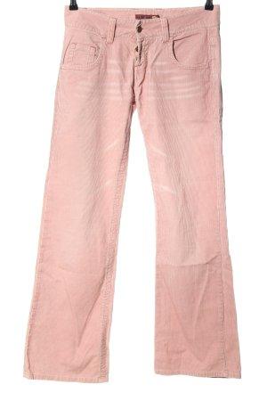 BlendShe Pantalone di velluto a coste rosa stile casual