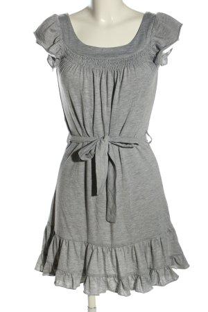 BlendShe Robe en jersey gris clair moucheté style décontracté