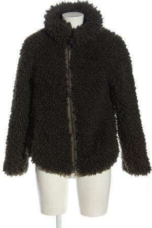 BlendShe Fake Fur Jacket khaki casual look