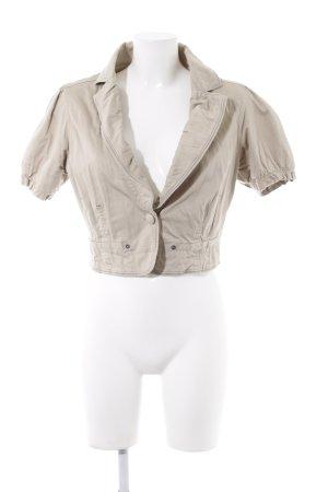 BlendShe Short Sleeved Blouse cream elegant