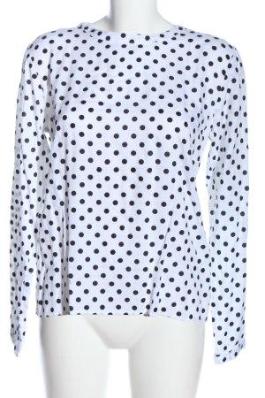 BlendShe Long Sleeve Blouse white-black allover print casual look