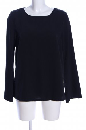 BlendShe Langarm-Bluse schwarz Business-Look