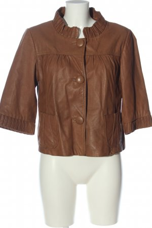 BlendShe Skórzana kurtka brązowy W stylu casual