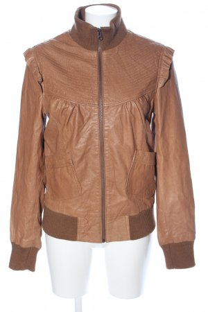 BlendShe Leather Jacket brown casual look