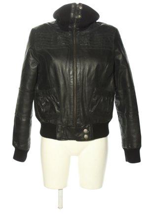 BlendShe Skórzana kurtka czarny W stylu casual