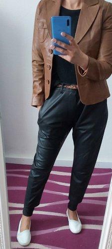 BlendShe Veste en cuir brun