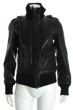 BlendShe Lederjacke schwarz
