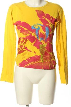 BlendShe Longsleeve primrose-red themed print casual look