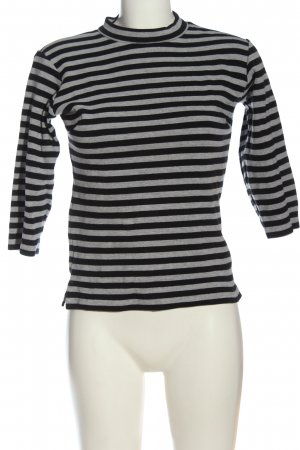 BlendShe Gestreept shirt lichtgrijs-zwart gestippeld casual uitstraling
