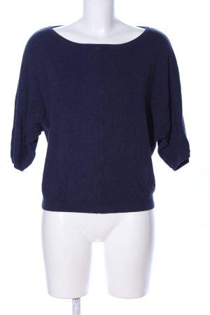 BlendShe Rundhalspullover blau Business-Look