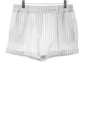 BlendShe Shorts weiß-schwarz Streifenmuster Business-Look