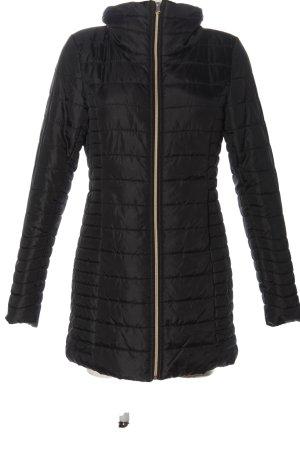 BlendShe Veste matelassée noir motif de courtepointe style décontracté