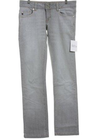 BlendShe Straight Leg Jeans light grey simple style