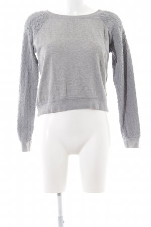 BlendShe Sweatshirt hellgrau meliert Casual-Look