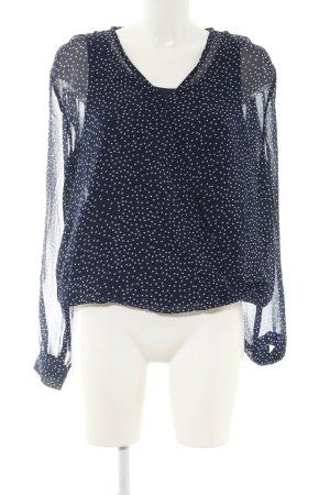 BlendShe Tunikabluse blau-weiß Punktemuster Casual-Look