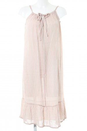 BlendShe Flounce Dress natural white-pink striped pattern casual look