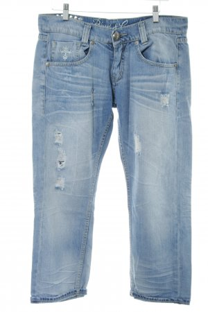 Blessed & Cursed 3/4 Length Jeans blue casual look