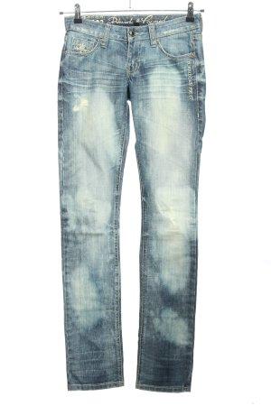 Blessed & Cursed Jeans taille basse bleu style décontracté