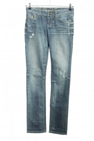 Blessed & Cursed Low Rise jeans blauw casual uitstraling